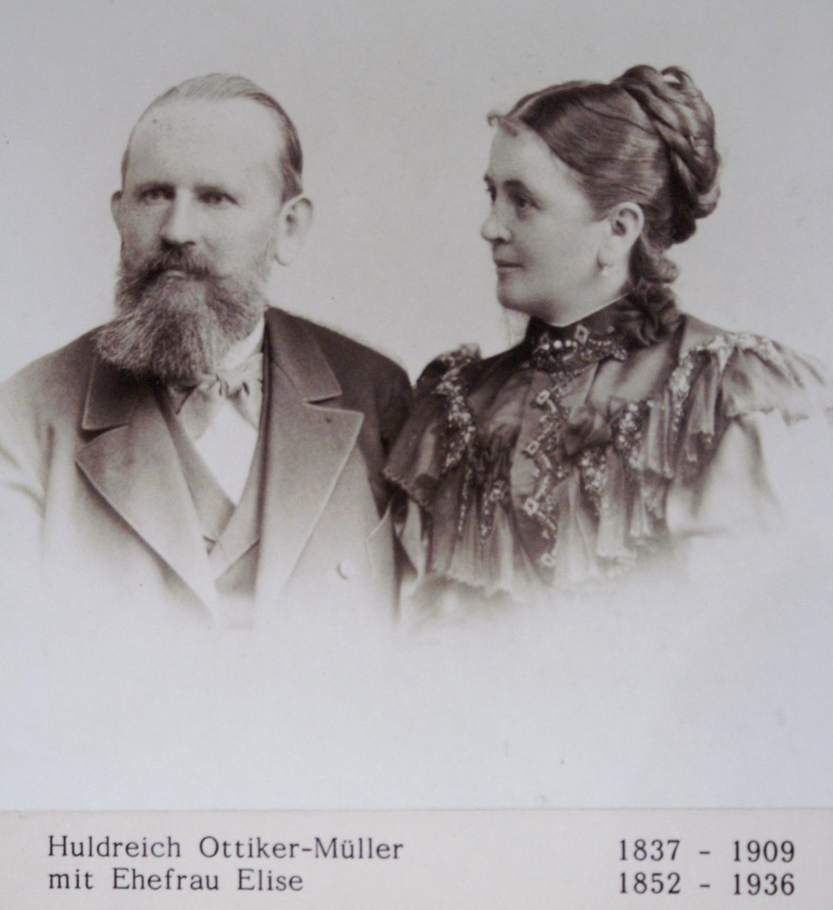 Das Textilunternehmer-Ehepaar Ottiker-Müller erwirbt die Feldegg 1882, baut um und benennt die Wohnstätte fortan Lindengut