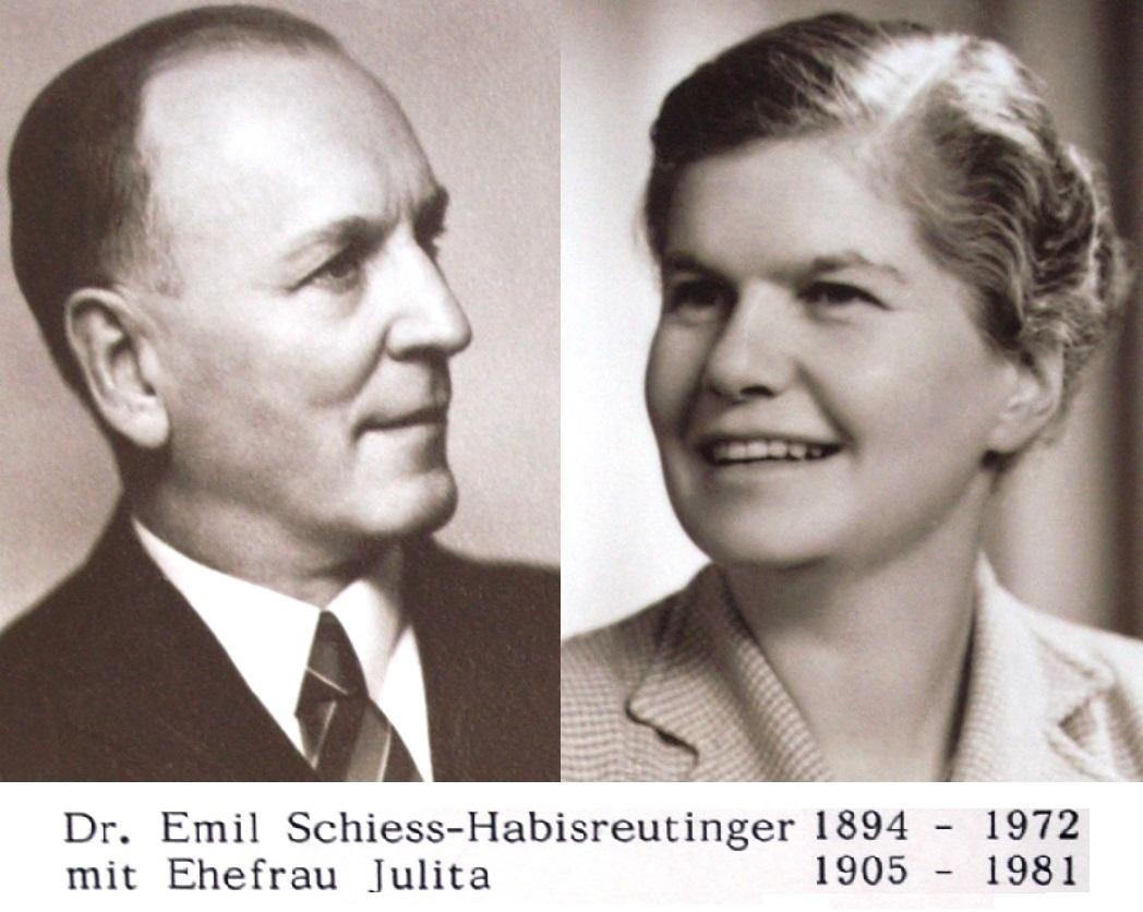 Dr. Emil und Julita Schiess-Habisreutinger - die 3. Generation im Lindengut