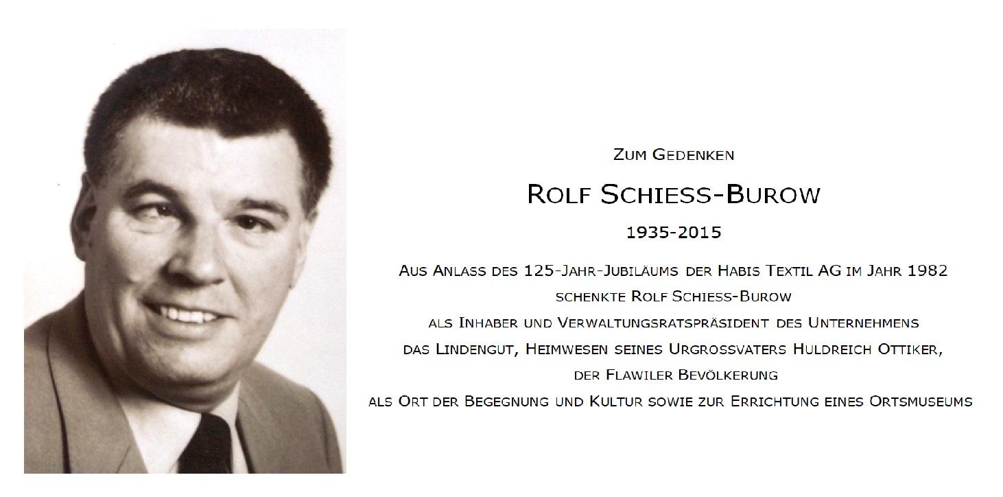 in vierter Generation im Lindengut aufgewachsen: Rolf Schiess (1935-2015), Stifter des Lindenguts