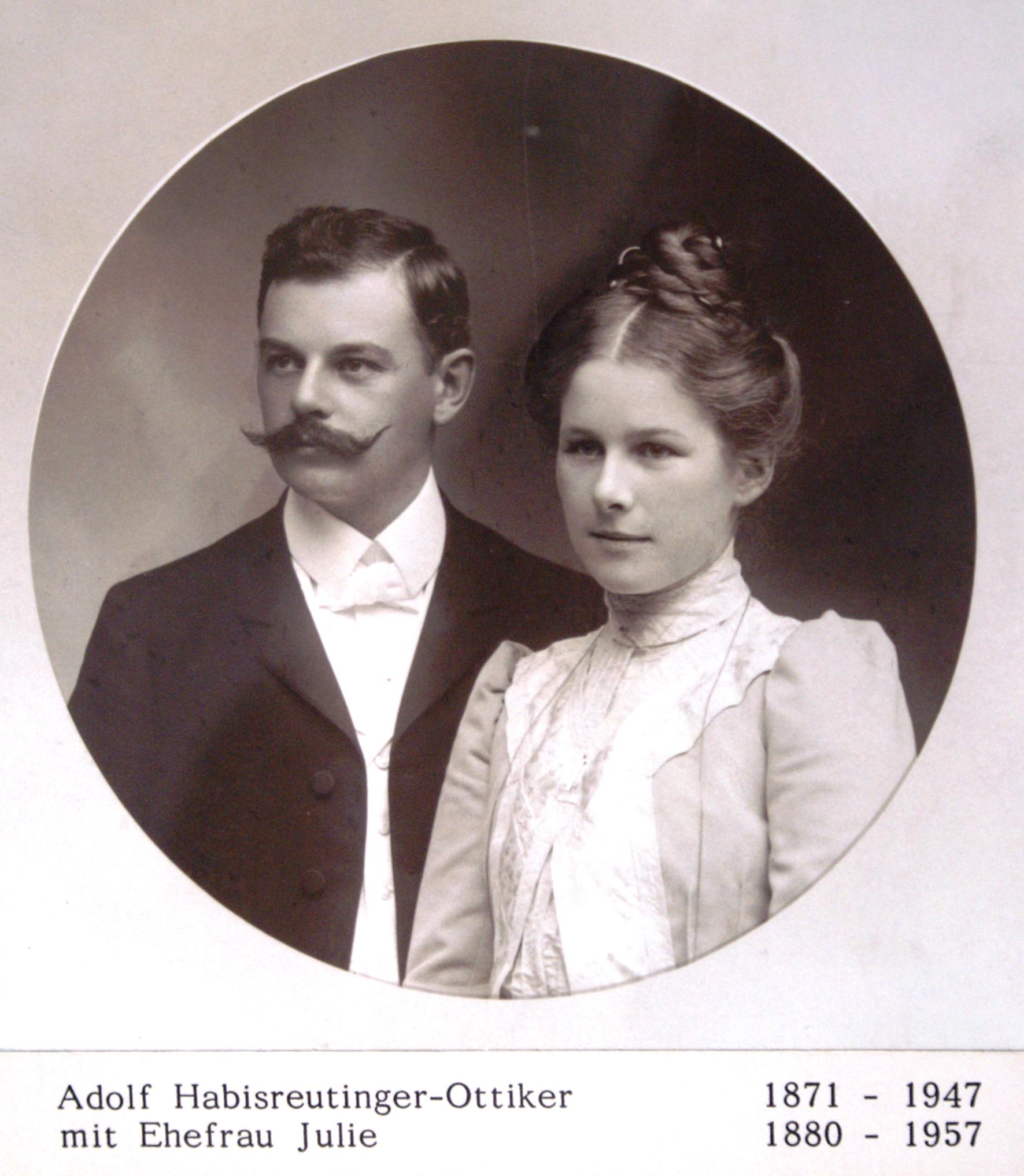 Ehepaar Habisreutinger-Ottiker, nachfolgende Bewohner im Lindengut