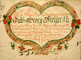 Kostbarkeit aus dem auslaufenden 18. Jahrhundert - die Examen- oder Osterschriften