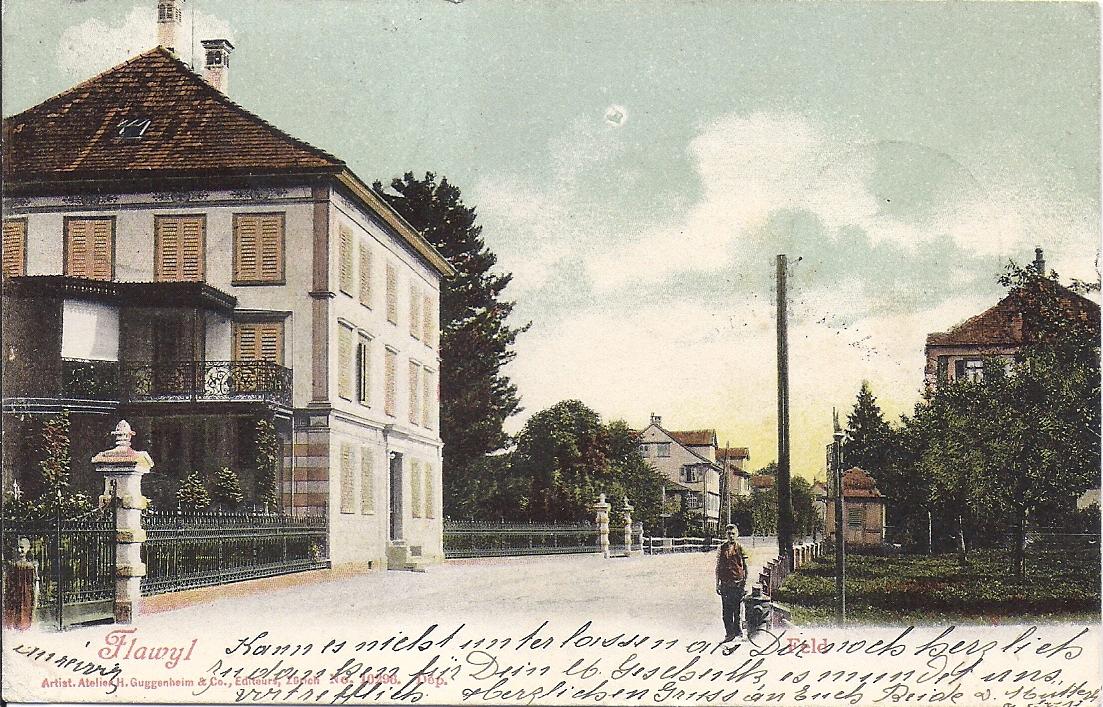 Das Lindengut in einer Postkarte, geschrieben von Julie Habisreutinger-Ottiker