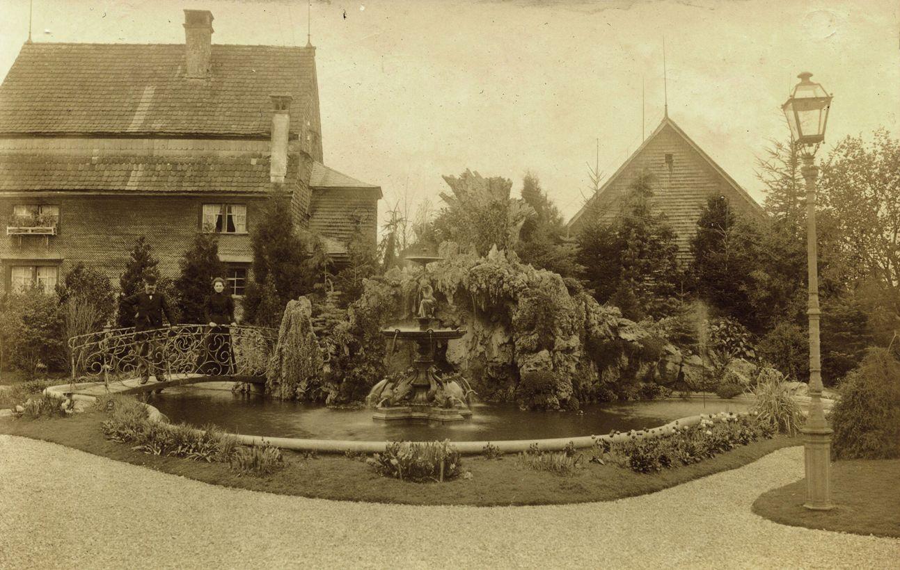 Der neugestaltete Park um 1900