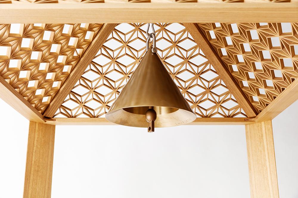 【オブジェデザイン】七尾高校創立120周年記念「組子の鐘楼」