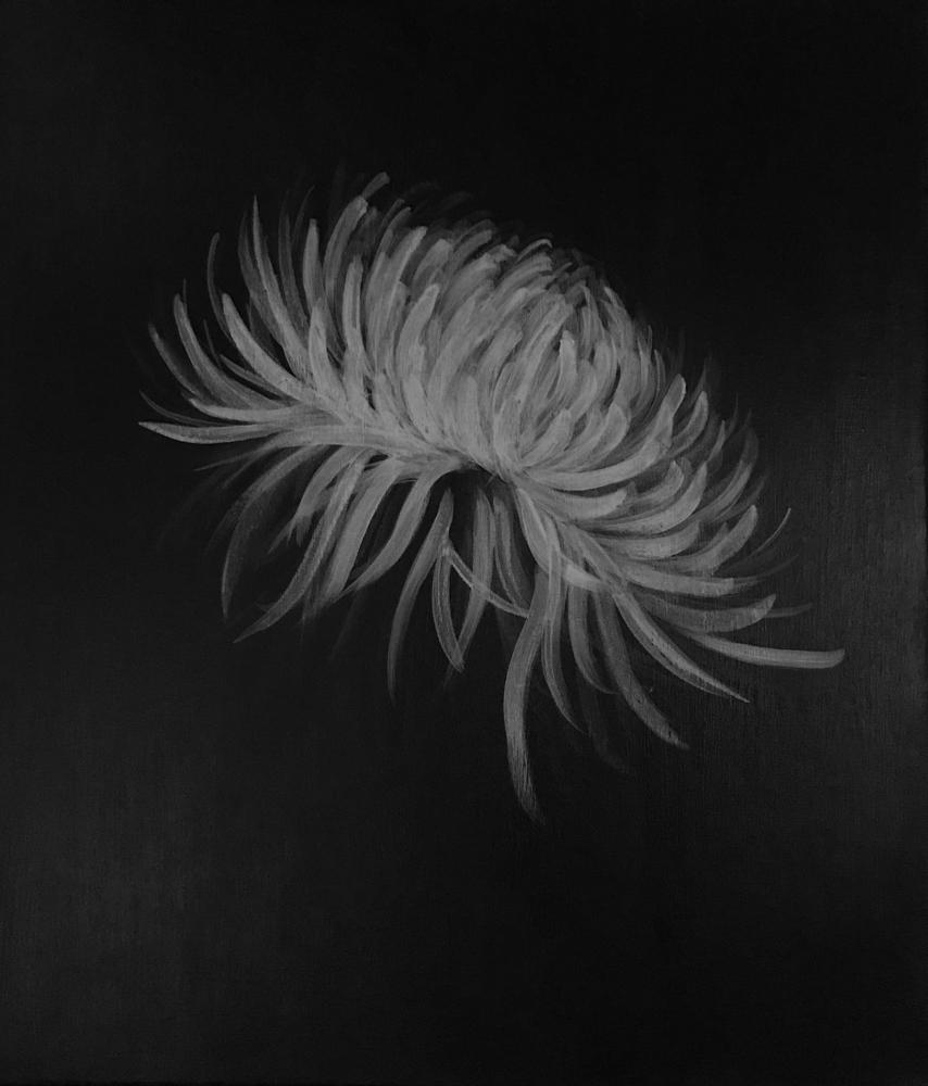 命を謳歌する花02・アクリル画