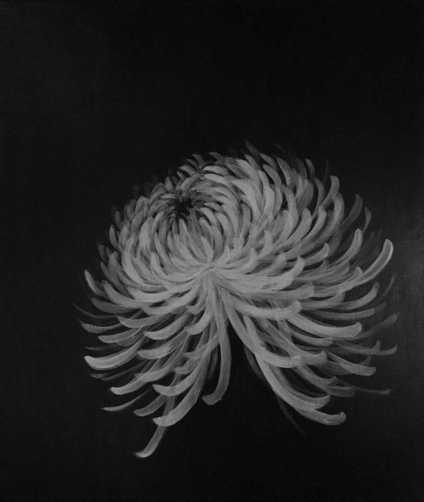 命を謳歌する花01・アクリル画