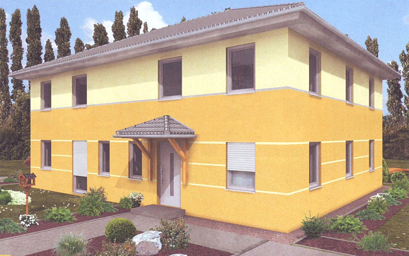 Planungsbeispiel Doppelhaus