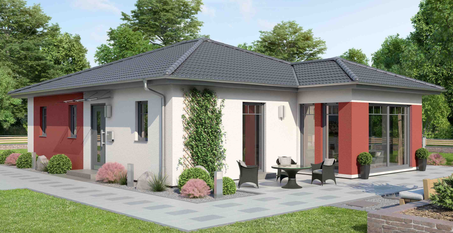 Bungalow W104 - Details und Grundriss hier klicken