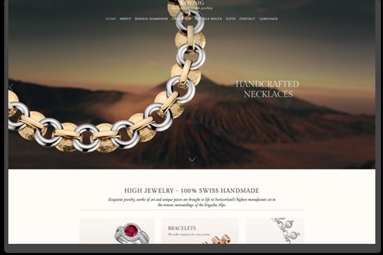 Vincent Webdesign für Juwelier und Schmuckwebseiten