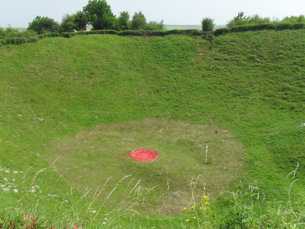 Lochnagar crater:one hundred meters wide