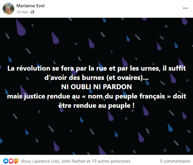 Facebook https://www.facebook.com/search/top?q=st%C3%A9phane%20stef%20espic   https://www.facebook.com/search/top?q=marianne%20evol      Stéphane ESPIC www.jesuispatrick.fr www.stopcorruptionstop.fr www.alerterouge-france.fr SITE de Patrick DEREUDRE