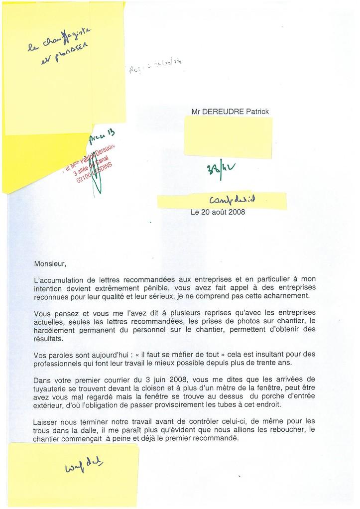 Pièce N° 13 page 38/42 Constat d'huissier du 8 & 9 Septembre 2008  voir site www.maisonnonconforme.fr