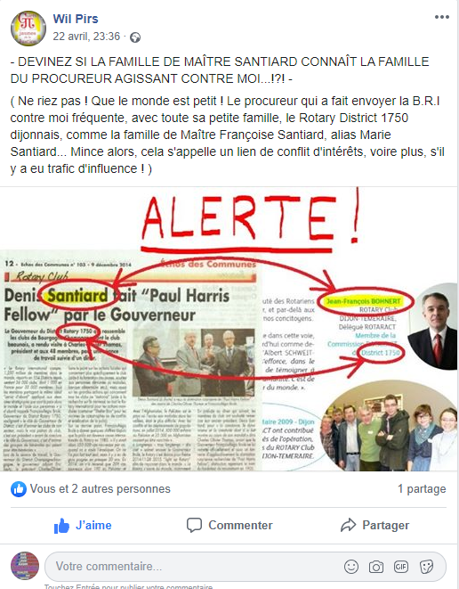 Facebook WIL PIRS Maître Wildfried PARIS AVOCAT DISSISENT Menacé de mort en FRANCE www.jesuispatrick.fr ALERTE ROUGE www.alerterouge-france.fr