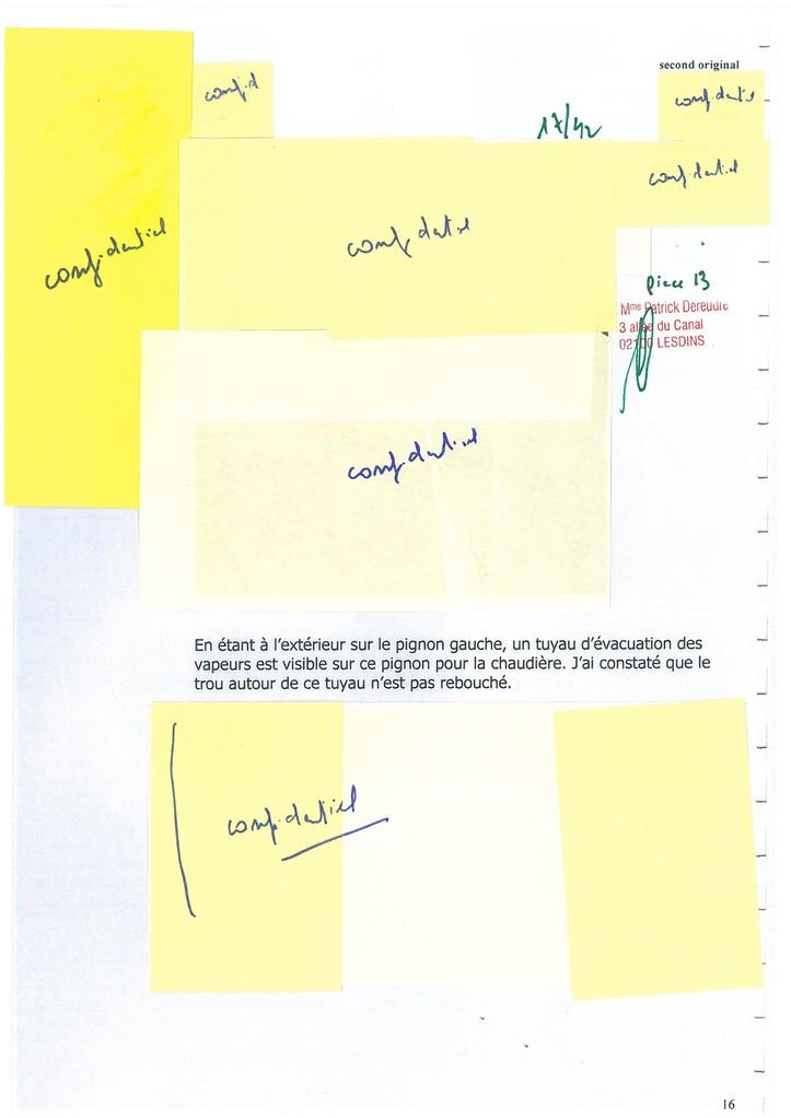 Pièce N° 13 page 17/42 Constat d'huissier du 8 & 9 Septembre 2008  voir site www.maisonnonconforme.fr
