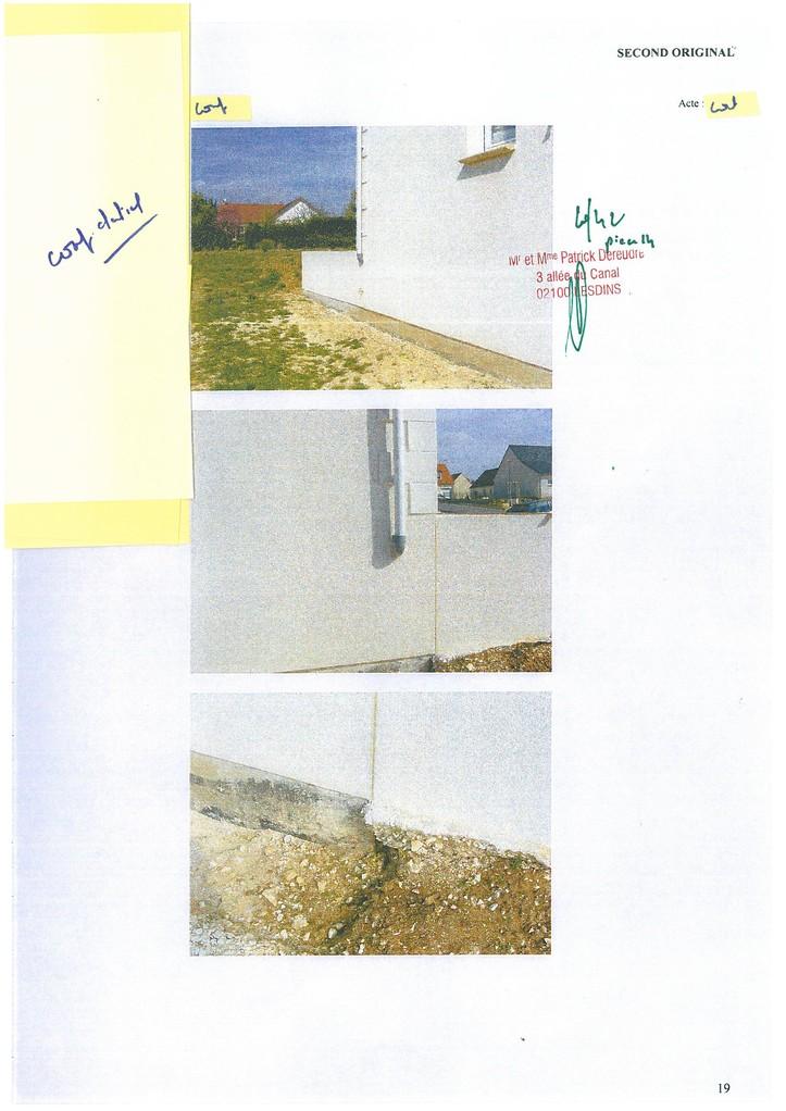 Pièce 14 Page 20/42 Constat d'huissier du 06 & 08 Avril 2009  voir site www.maisonnonconforme.fr