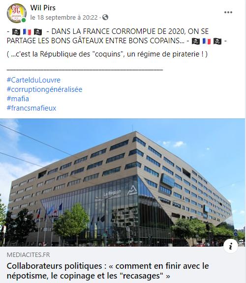 Facebook WIL PIRS Maître Wildfried PARIS AVOCAT DISSISENT Menacé de mort en FRANCE www.jesuispatrick.fr ALERTE ROUGE www.alerterouge-france.fr