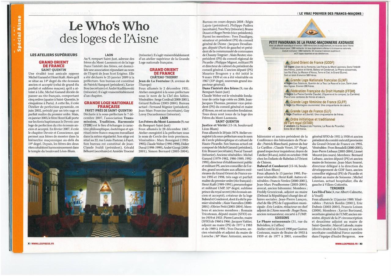 L'EXPRESS N°3067 Semaine du 15 au 21 avril 2010  (Page X & XI) site www.maisonnonconforme.fr