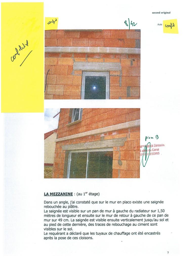 Pièce N° 13 page 8/42 Constat d'huissier du 8 & 9 Septembre 2008  voir site www.maisonnonconforme.fr