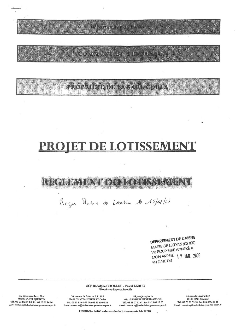 Cahier des charges du lotissement LA MALADRERIE à LESDINS Page 1 sur 28   voir site www.maisonnonconforme.fr