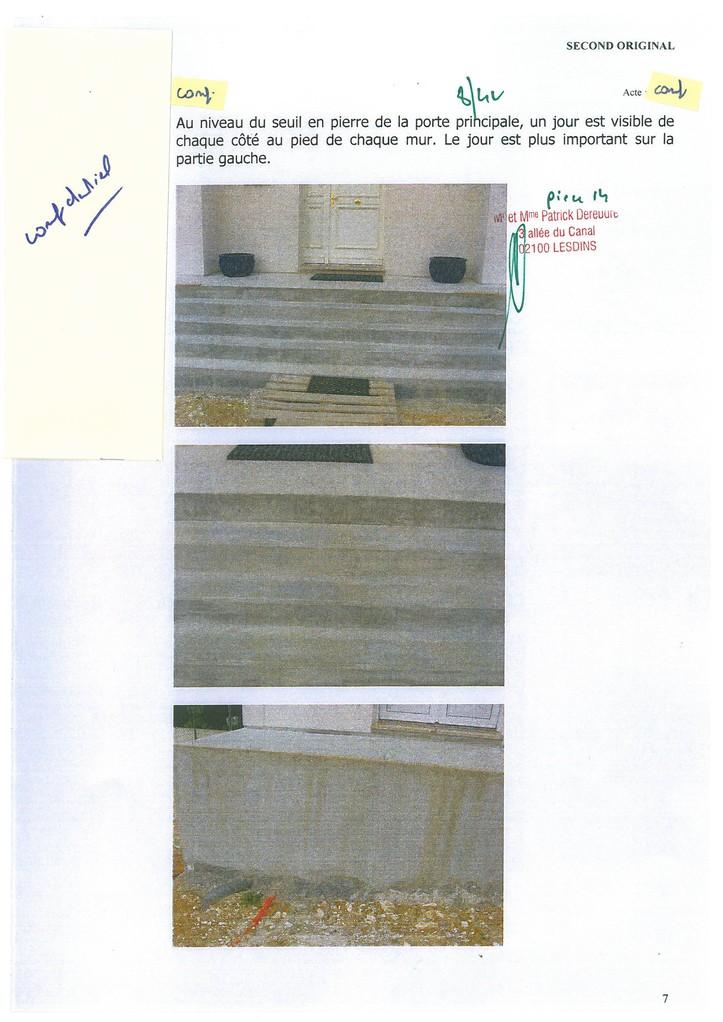Pièce 14 Page 8/42 Constat d'huissier du 06 & 08 Avril 2009  voir site www.maisonnonconforme.fr