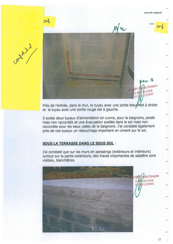 Pièce N° 13 page 13/42 Constat d'huissier du 8 & 9 Septembre 2008  voir site www.maisonnonconforme.fr