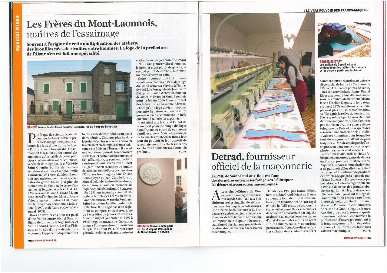 L'EXPRESS N°3067 du 15 au 21 avril 2010  (Page VIII & IX) site www.maisonnonconforme.fr
