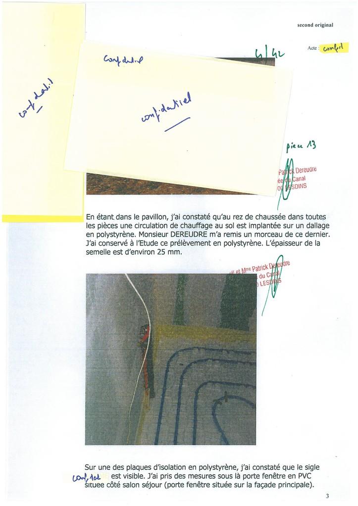 Pièce N° 13 page 4/42 Constat d'huissier du 8 & 9 Septembre 2008  voir site www.maisonnonconforme.fr