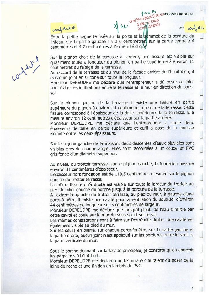 Pièce 14 Page 7/42 Constat d'huissier du 06 & 08 Avril 2009  voir site www.maisonnonconforme.fr
