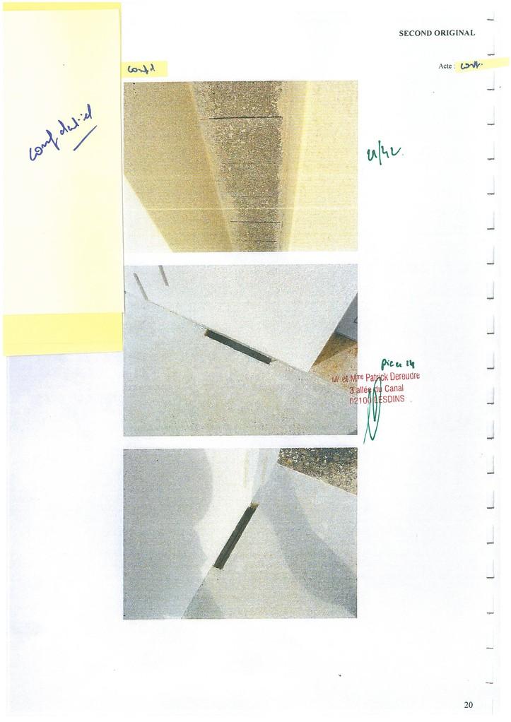 Pièce 14 Page 21/42 Constat d'huissier du 06 & 08 Avril 2009  voir site www.maisonnonconforme.fr
