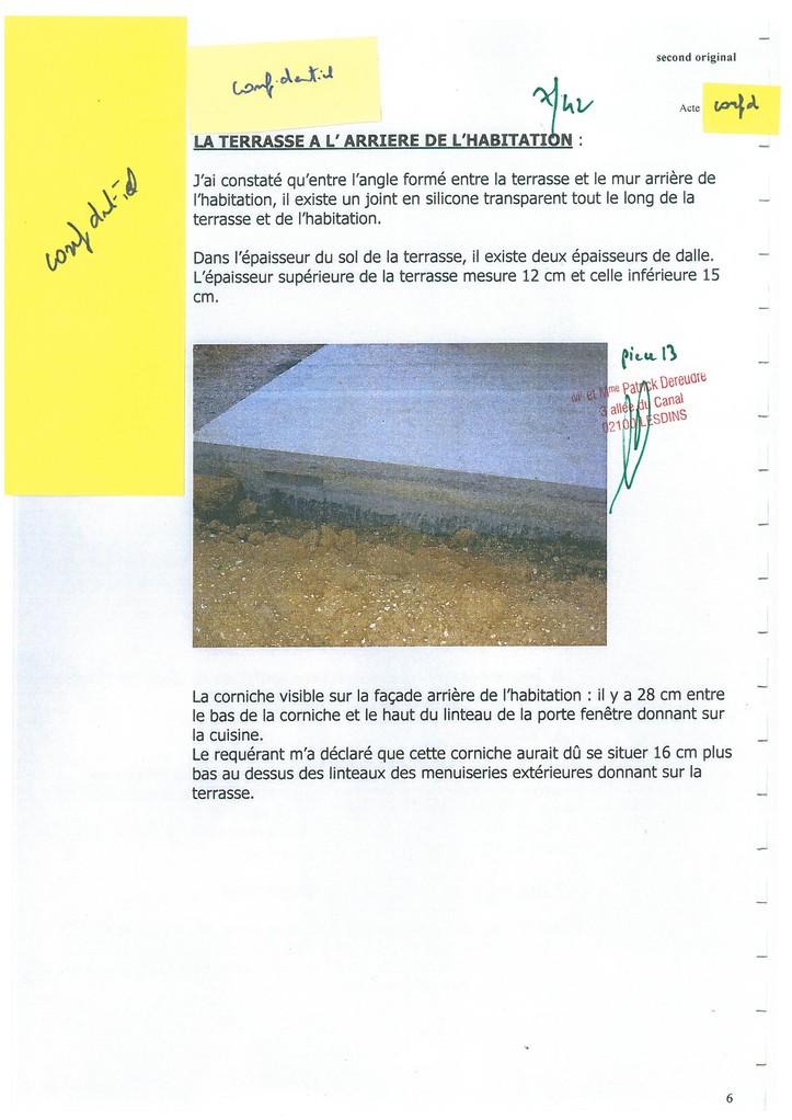 Pièce N° 13 page 7/42 Constat d'huissier du 8 & 9 Septembre 2008  voir site www.maisonnonconforme.fr