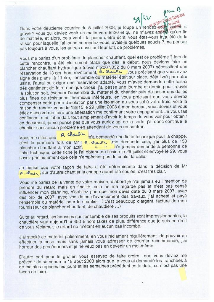 Pièce N° 13 page 39/42 Constat d'huissier du 8 & 9 Septembre 2008  voir site www.maisonnonconforme.fr