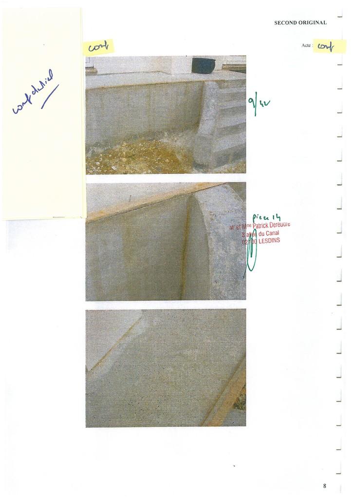 Pièce 14 Page 9/42 Constat d'huissier du 06 & 08 Avril 2009  voir site www.maisonnonconforme.fr