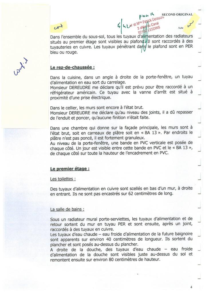 Pièce 14 Page 5/42 Constat d'huissier du 06 & 08 Avril 2009  voir site www.maisonnonconforme.fr