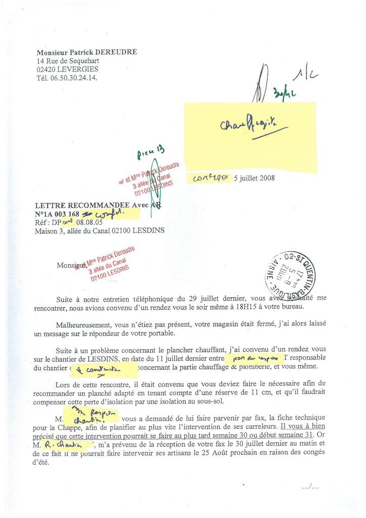 Pièce N° 13 page 30/42 Constat d'huissier du 8 & 9 Septembre 2008  voir site www.maisonnonconforme.fr