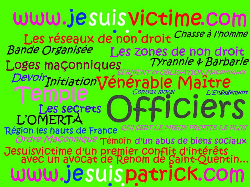Pétitions en ligne... Liberté, Egalité, Fraternité site www.maisonnonconforme.fr  www.jesuispatrick.fr de Patrick DEREUDRE