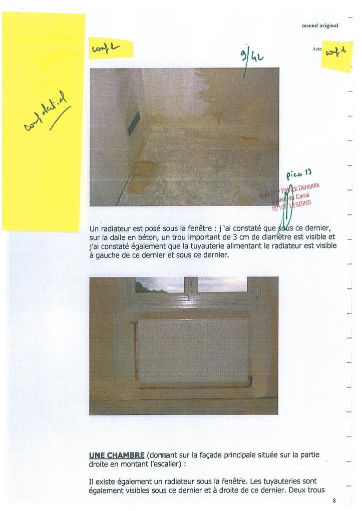 Pièce N° 13 page 9/42 Constat d'huissier du 8 & 9 Septembre 2008  voir site www.maisonnonconforme.fr