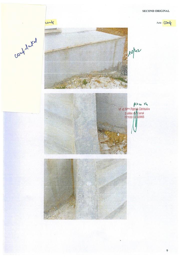 Pièce 14 Page 10/42 Constat d'huissier du 06 & 08 Avril 2009  voir site www.maisonnonconforme.fr
