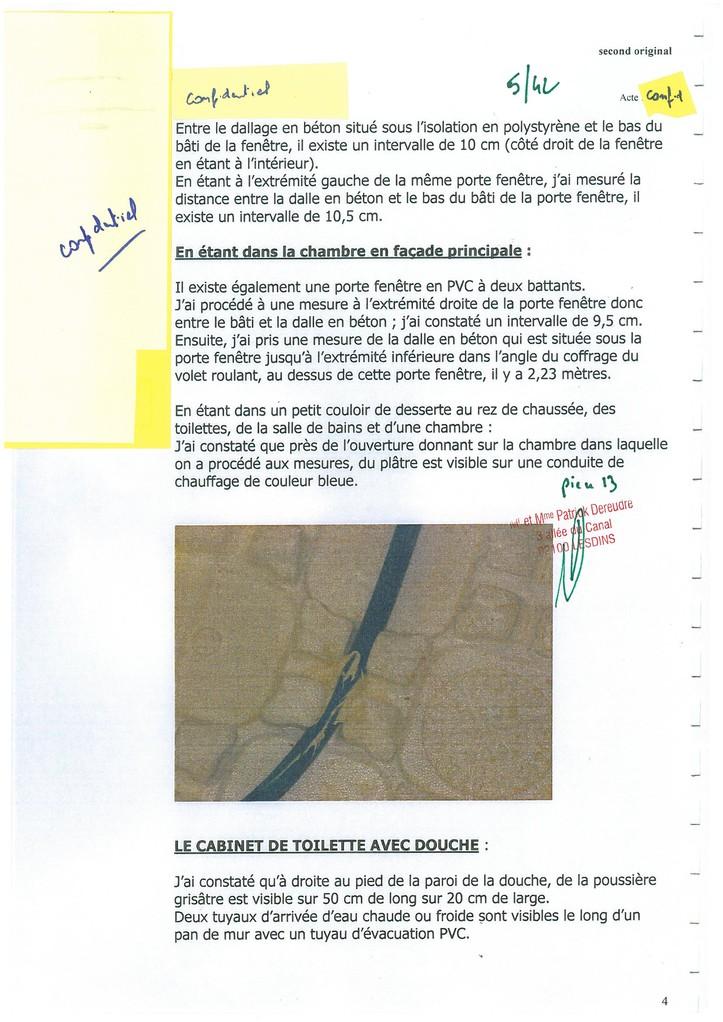 Pièce N° 13 page 5/42 Constat d'huissier du 8 & 9 Septembre 2008  voir site www.maisonnonconforme.fr