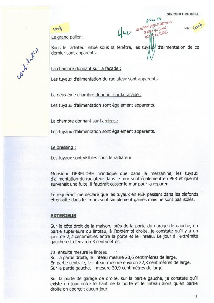 Pièce 14 Page 6/42 Constat d'huissier du 06 & 08 Avril 2009  voir site www.maisonnonconforme.fr