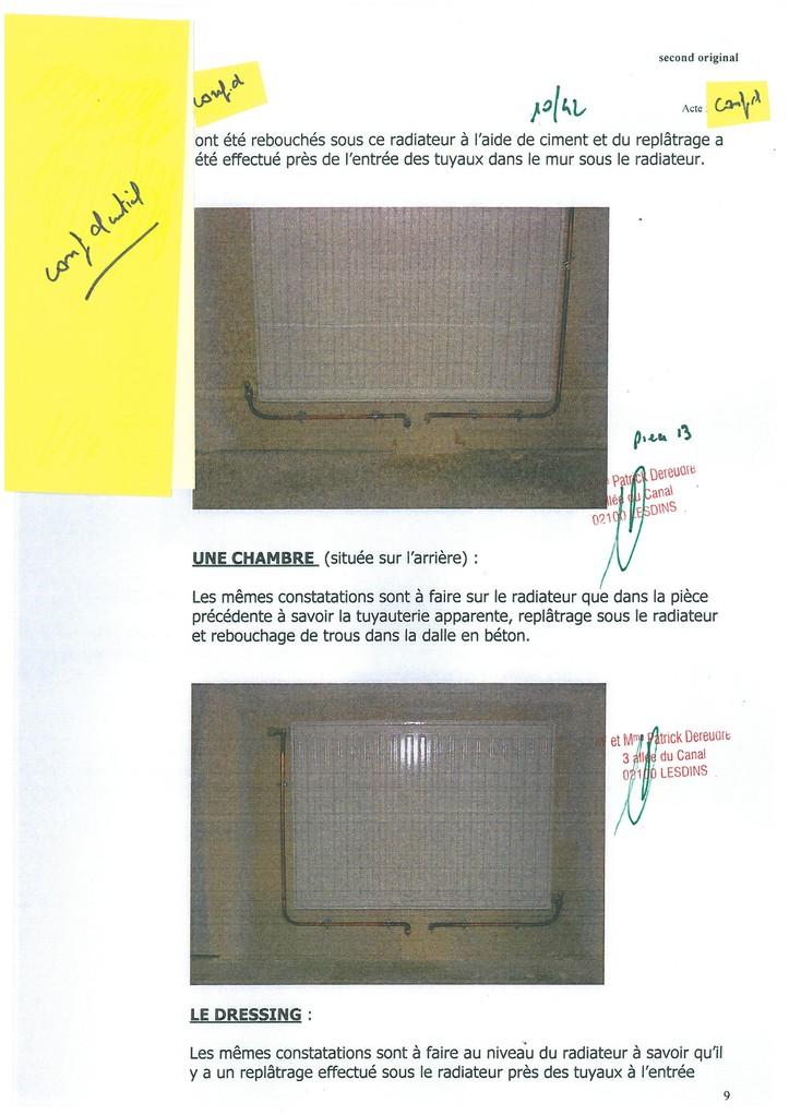 Pièce N° 13 page 10/42 Constat d'huissier du 8 & 9 Septembre 2008  voir site www.maisonnonconforme.fr