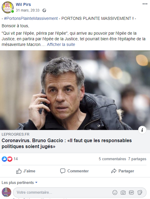 Facebook WIL PIRS Maître Wildfried PARIS AVOCAT DISSISENT Menacé de mort en FRANCE ww