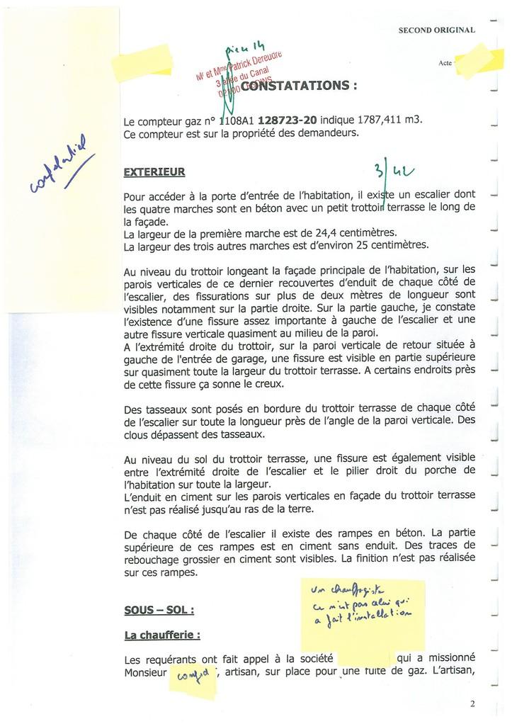 Pièce 14 Page 3/42 Constat d'huissier du 06 & 08 Avril 2009  voir site www.maisonnonconforme.fr