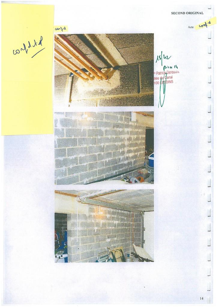 Pièce 14 Page 15/42 Constat d'huissier du 06 & 08 Avril 2009  voir site www.maisonnonconforme.fr