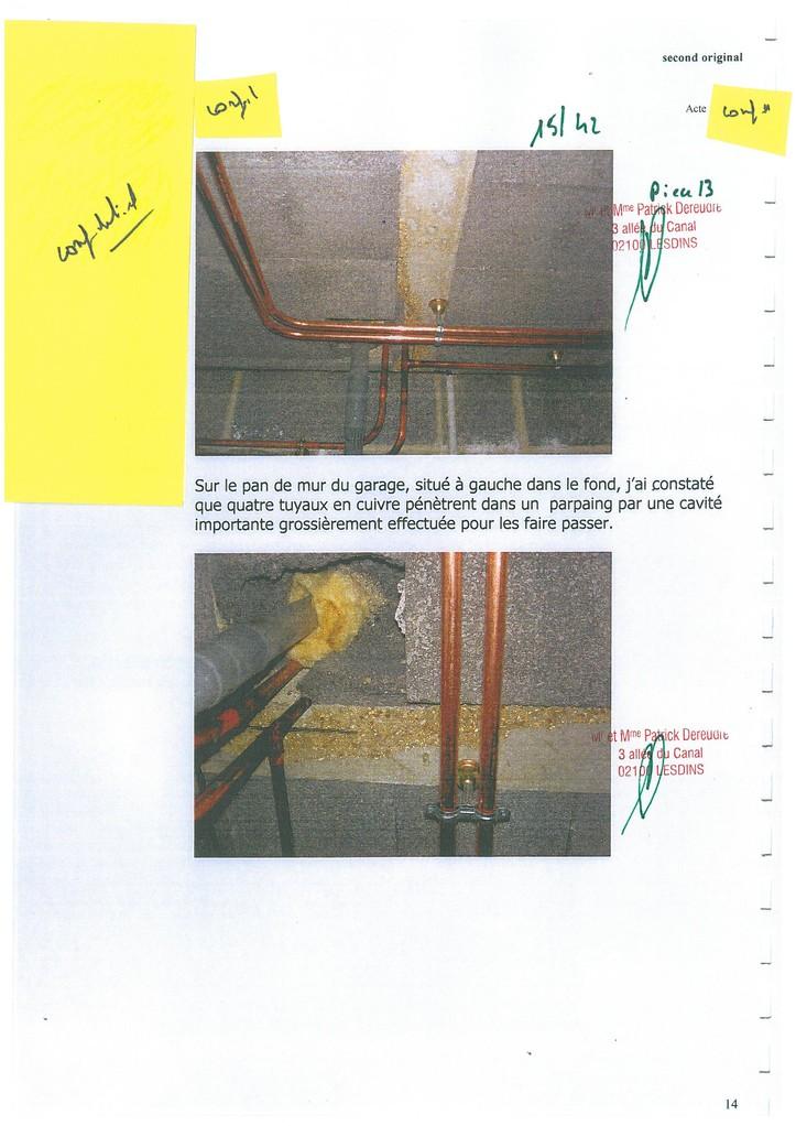 Pièce N° 13 page 15/42 Constat d'huissier du 8 & 9 Septembre 2008  voir site www.maisonnonconforme.fr