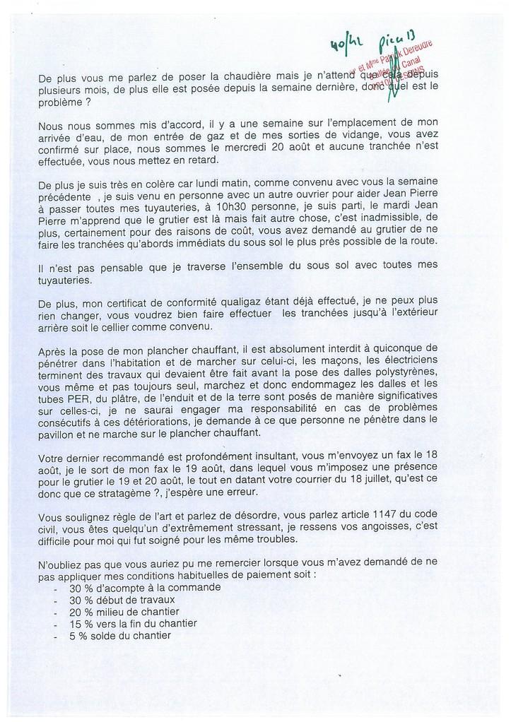 Pièce N° 13 page 40/42 Constat d'huissier du 8 & 9 Septembre 2008  voir site www.maisonnonconforme.fr