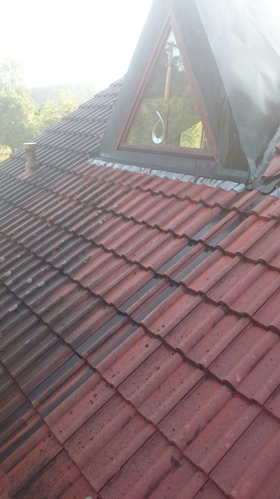 Vor der Lackierung der Dachziegel....
