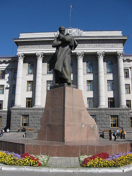 Пам'ятник Т.Г.Шевченку у Луцьку