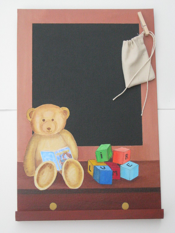 Ours ( ardoise offerte à Muriel Noël 2008)
