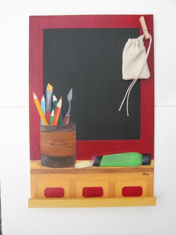 Peinture ( ardoise offerte à Isa Noël 2008)