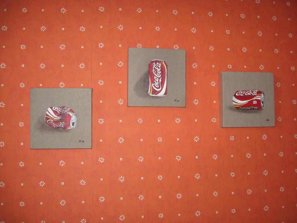 Les canettes de coca ( d'après une de mes photos